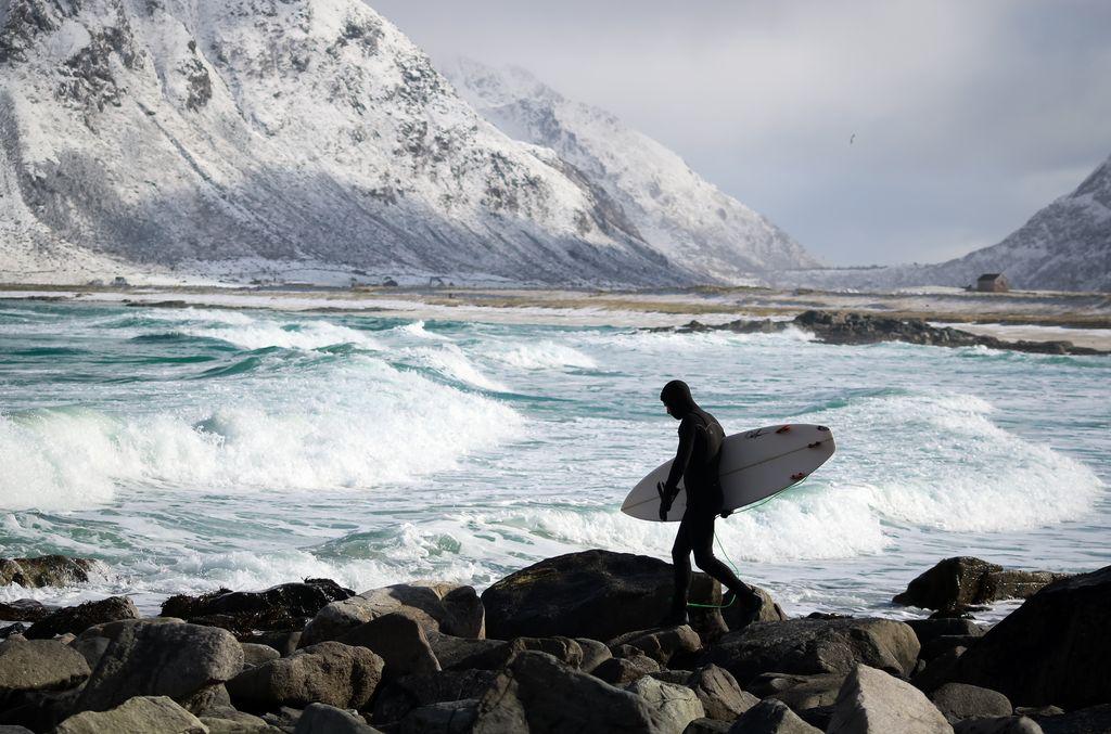 Surfing Lofoten islands