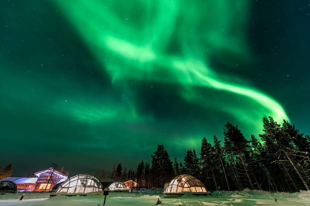 aurora igloo, Finland