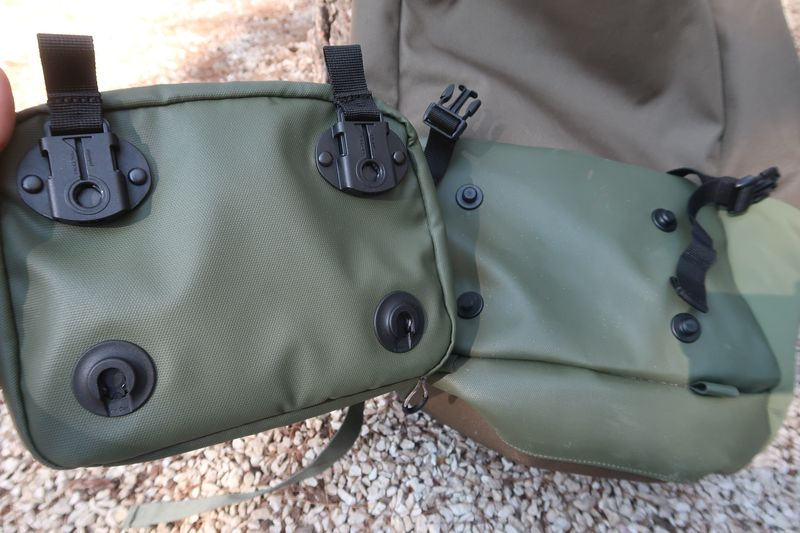 Shell backpack Fidlock attachments