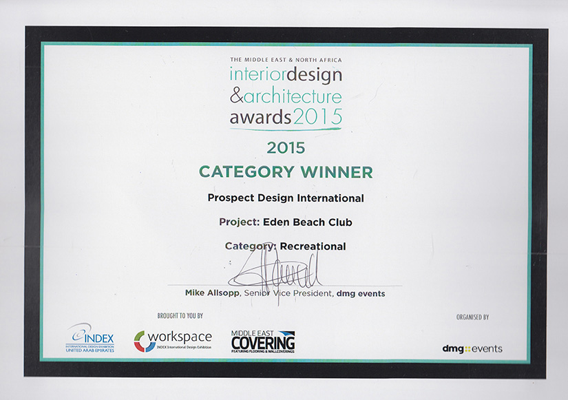 award winner - interior design services