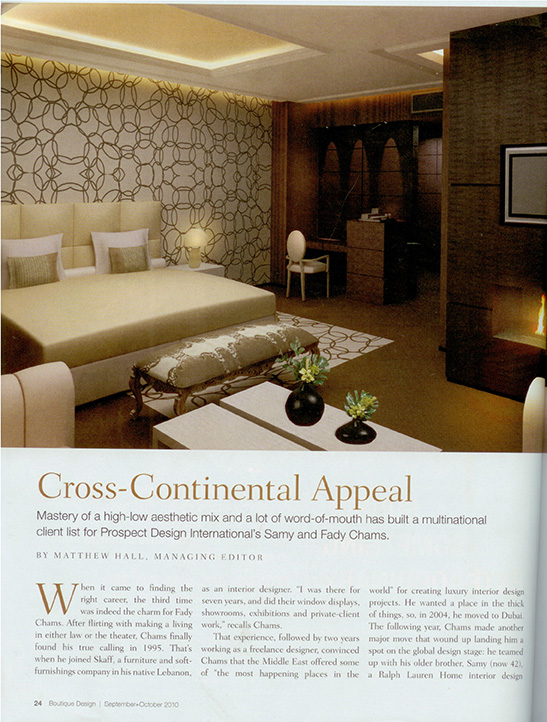 prospect design - cross continental appeal