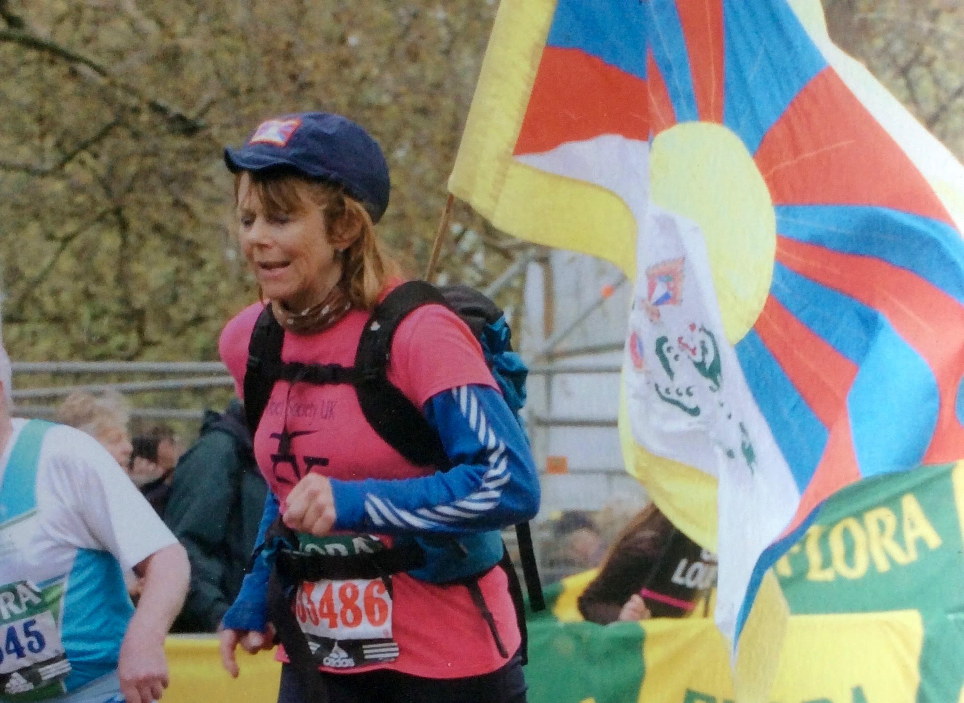 Tess runs the London Marathon 2008