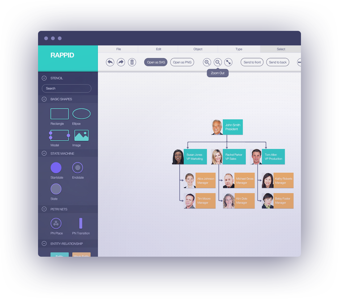 Jointjs visualize and interact with diagrams and graphs create static diagrams or fully interactive diagramming tools such as workflow editors process management tools ivr systems api integrators ccuart Choice Image