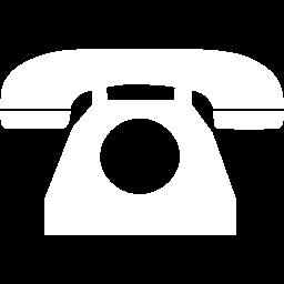 white rotary phone icon