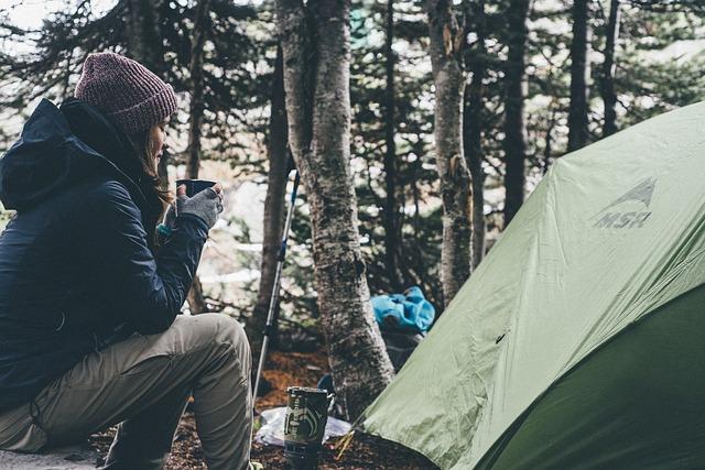 morning coffee camping