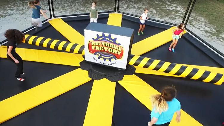Big Thrill Factory Wipeout Trampolines