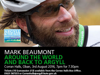 Cyclist and adventurer Mark Beaumont passed through Port Appin as part of his tour of Argyll