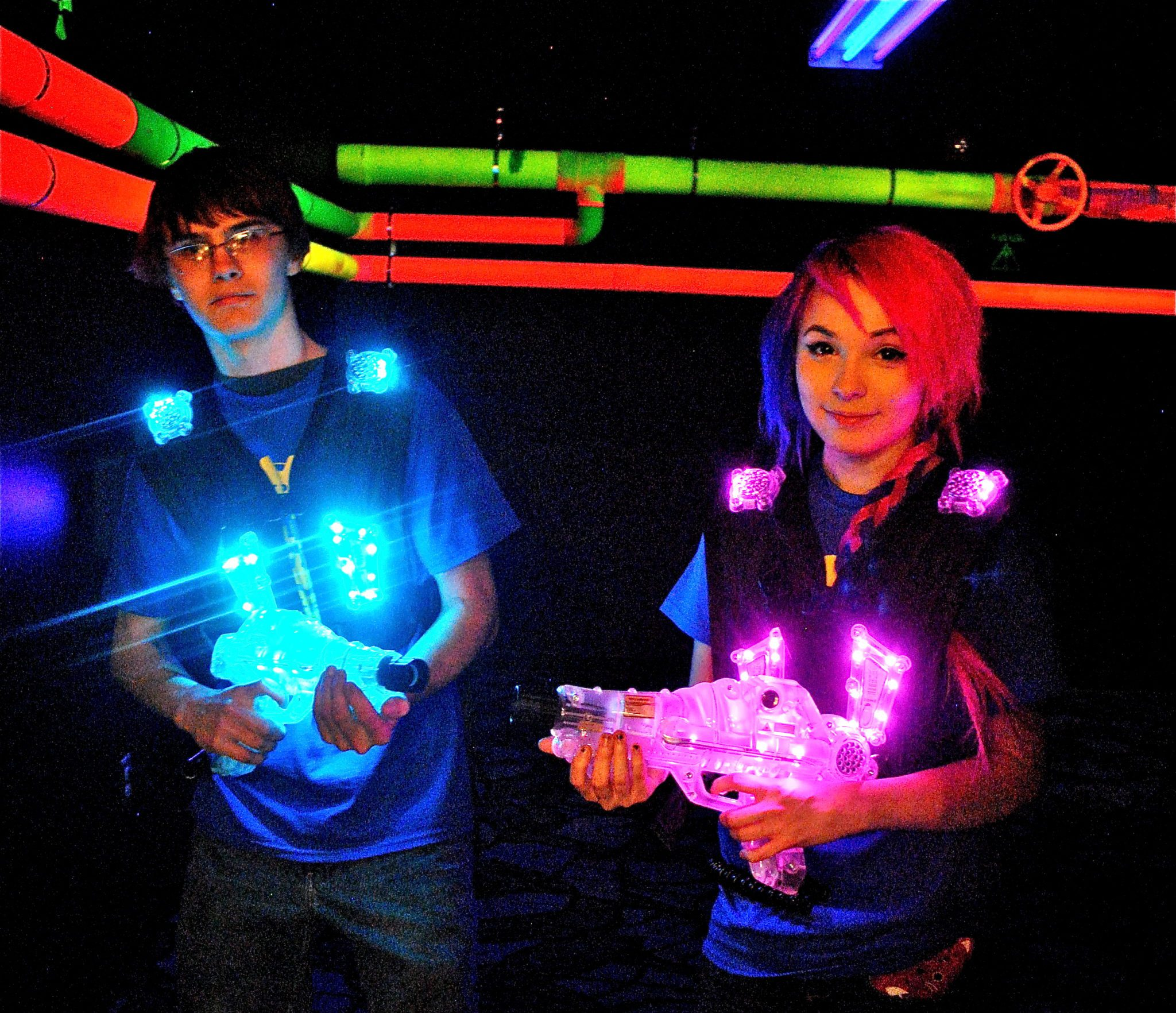 laser tag at big thrill factory