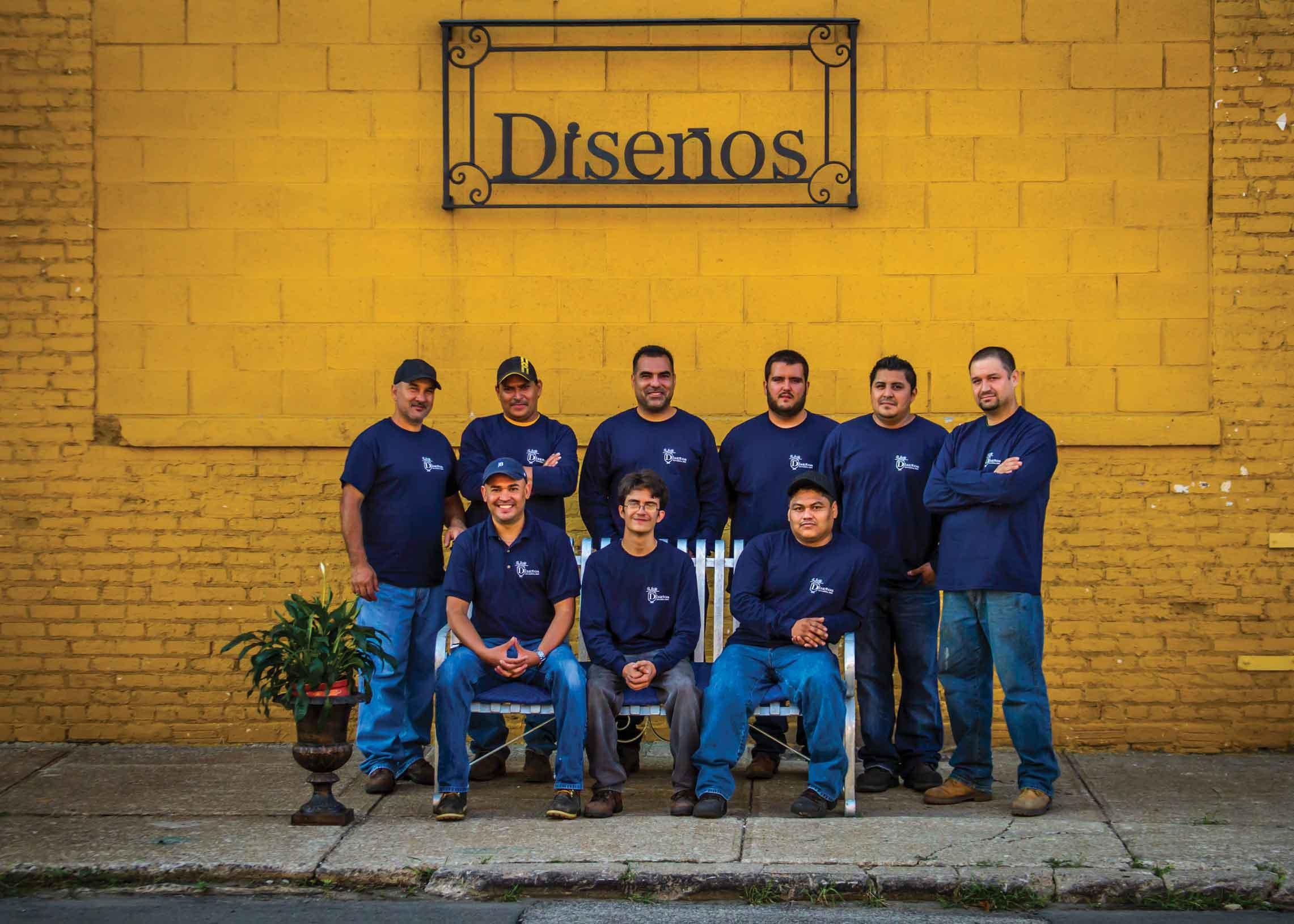 Diseños Ornamental Iron Detroit Staff Team