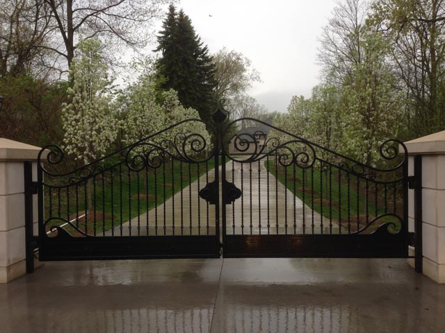 Diseños Ornamental Iron Detroit Custom Made elegant gate