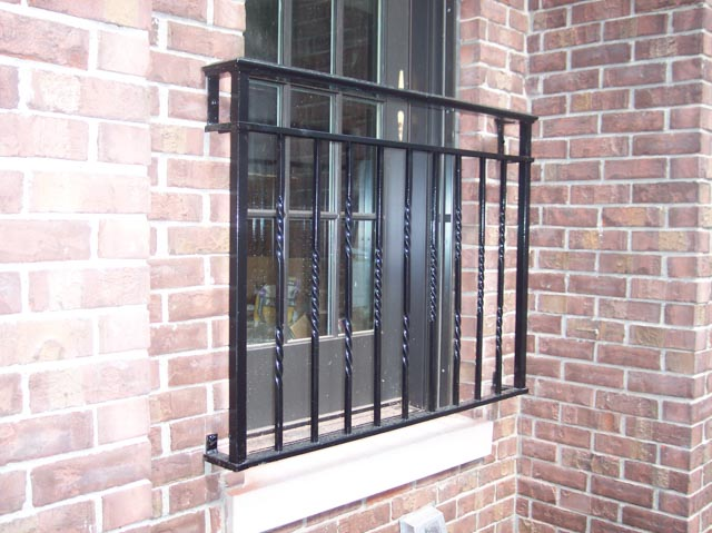 Diseños Ornamental Iron Detroit Custom Made grill window cover