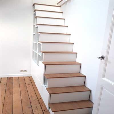 meuble escalier bois chene mesure