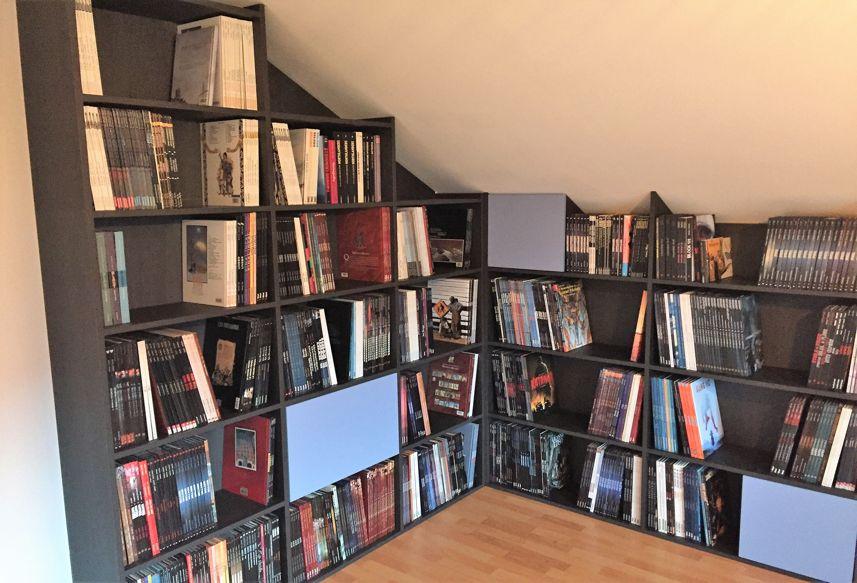bibliothèque angle architecture intérieur