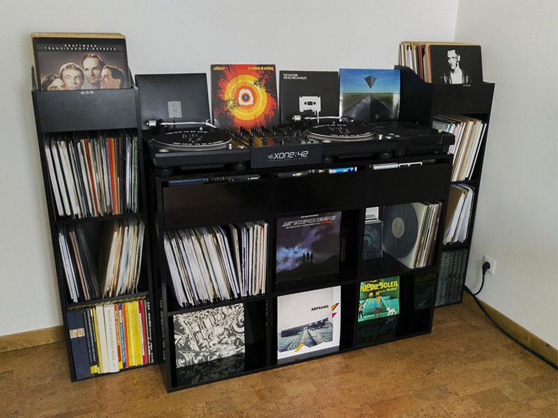 Meuble pour vinyle noir
