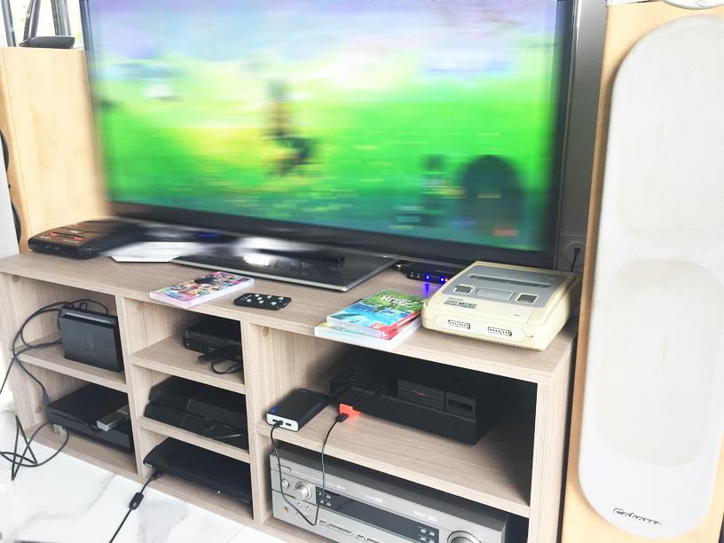 meuble TV sur mesure geek