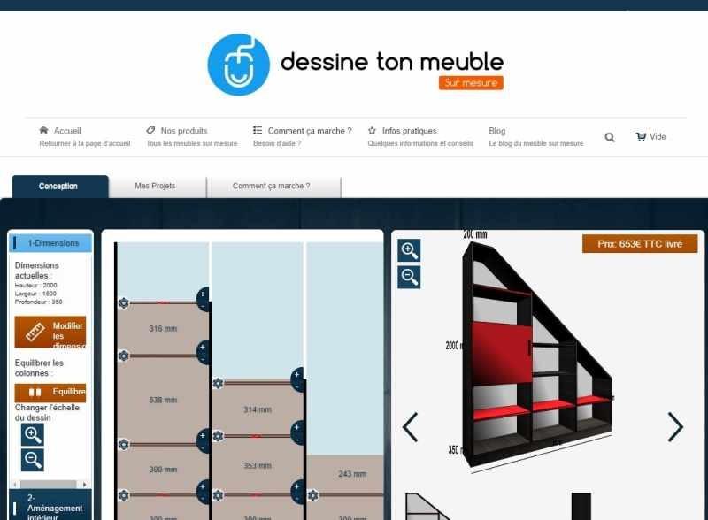 configurez votre meuble sur mesure sur dessinetonmeuble. Black Bedroom Furniture Sets. Home Design Ideas