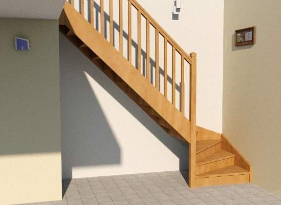Sous escalier quart tournant
