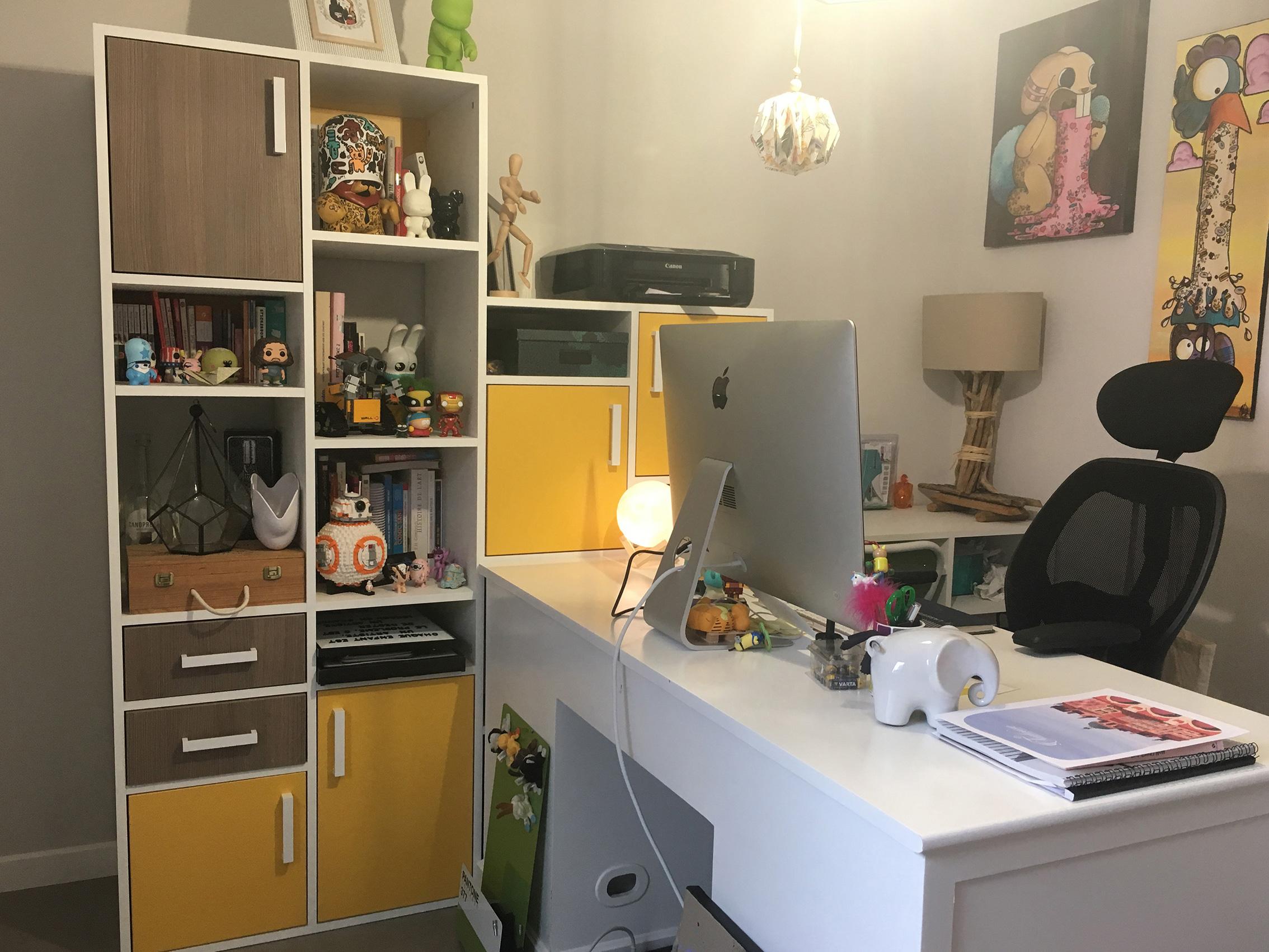 Bureau coloré