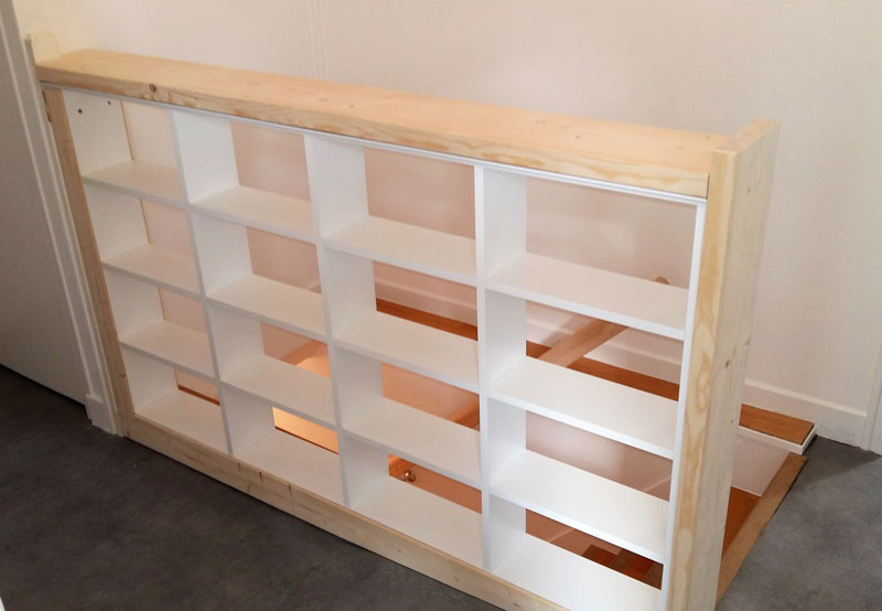 Separation meuble rambarde