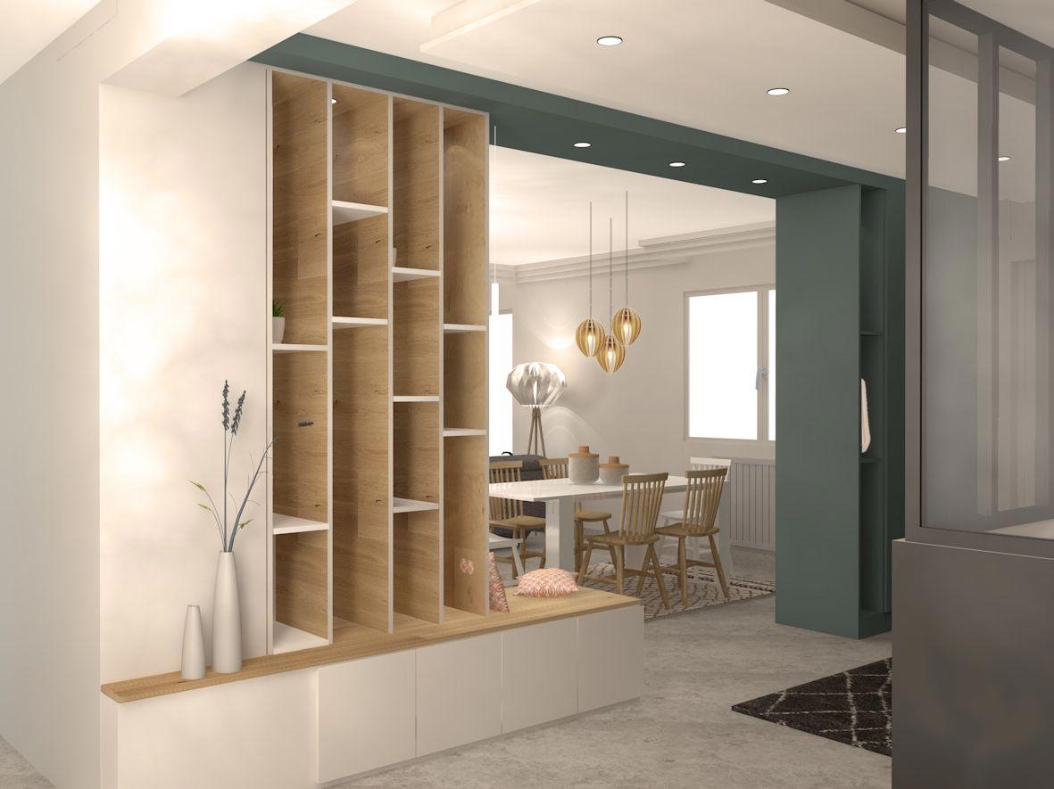 meuble entrée sur mesure bois