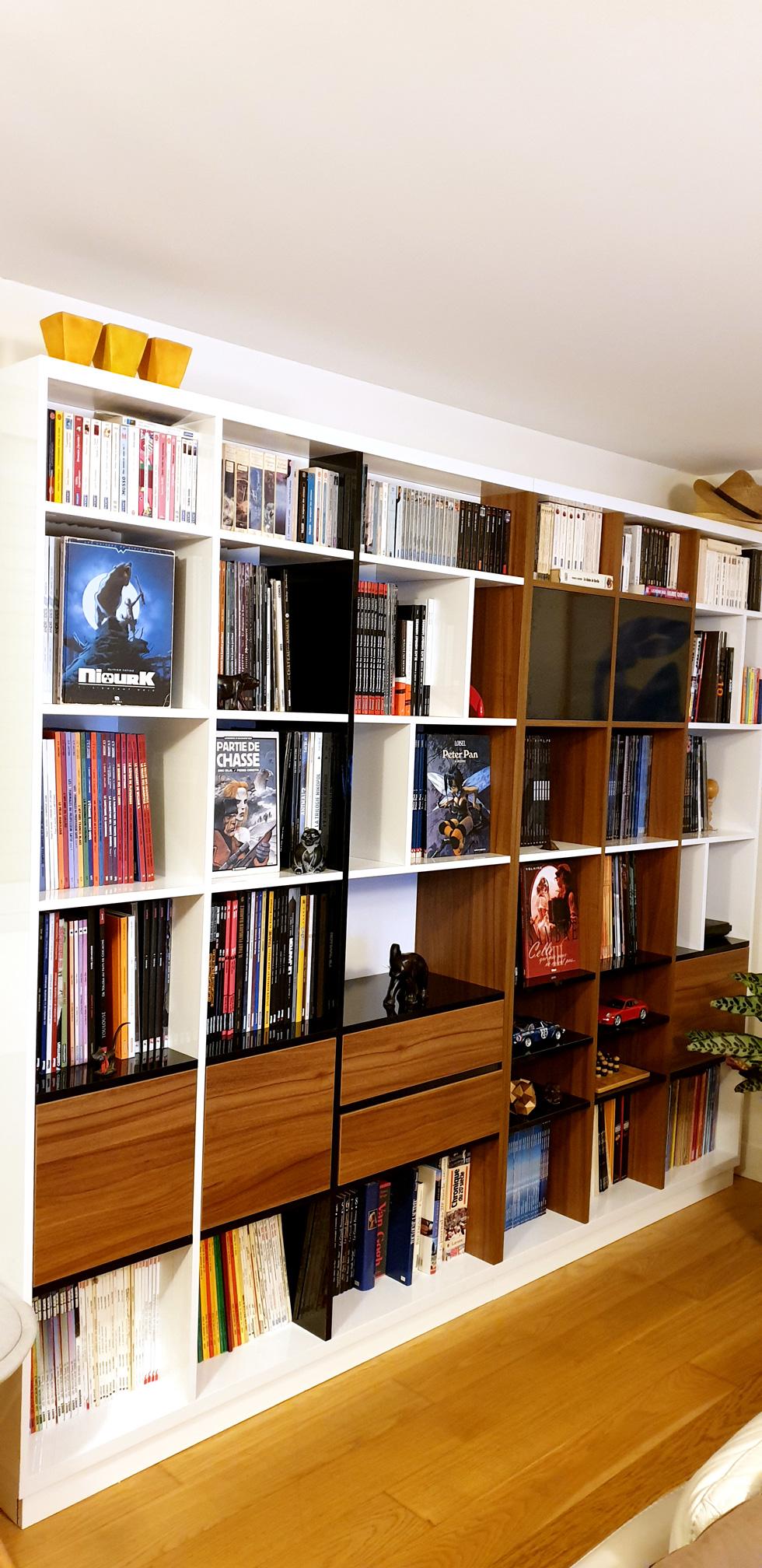 bibliotheque bois mesure design
