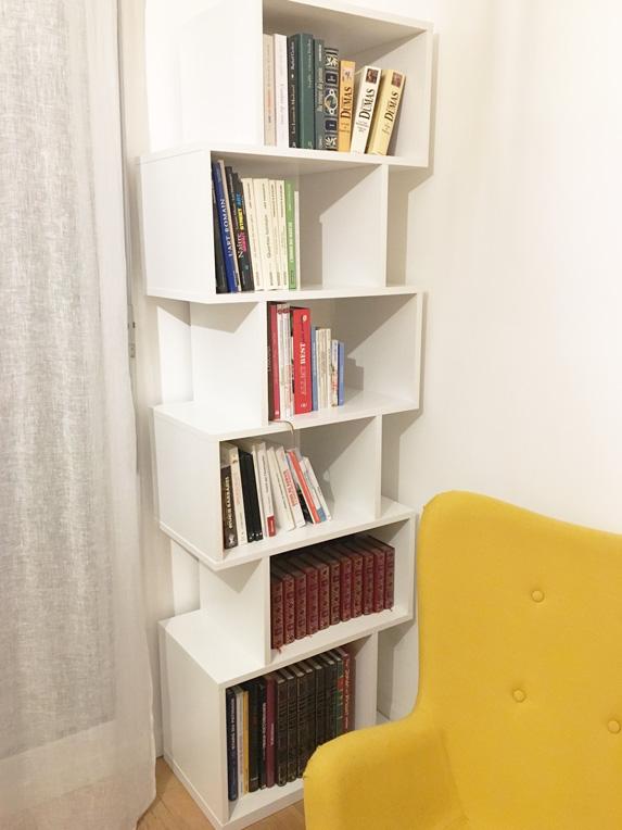 bibliotheque colonne sur mesure