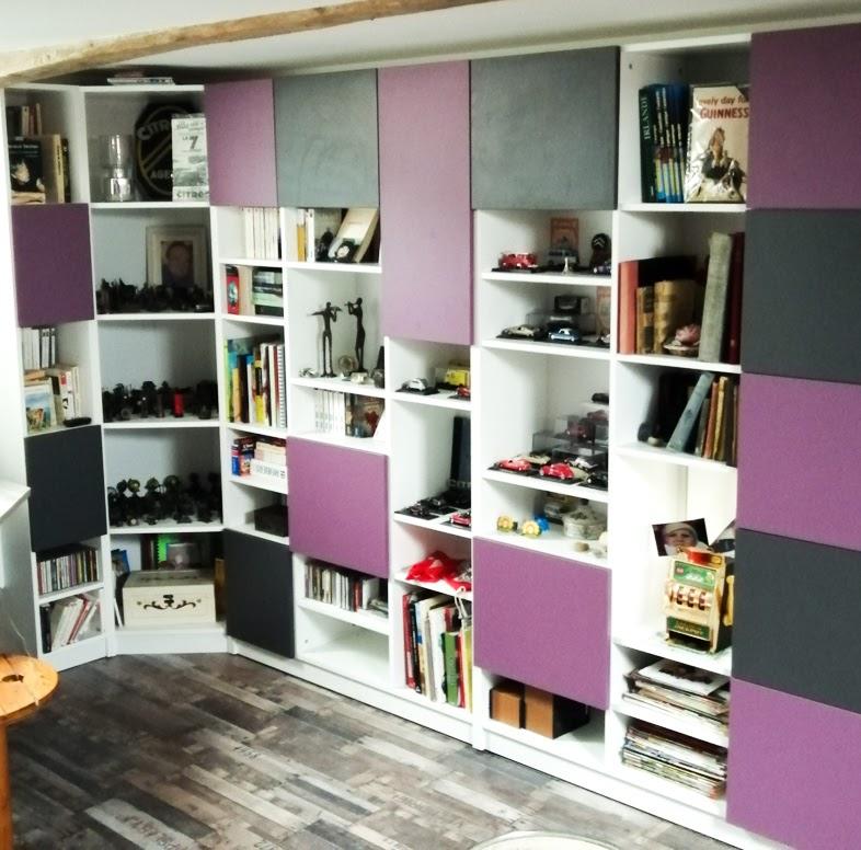 meuble bibliothèque angle sur mesure