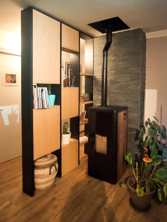 meuble bibliothèque claustra sur mesure
