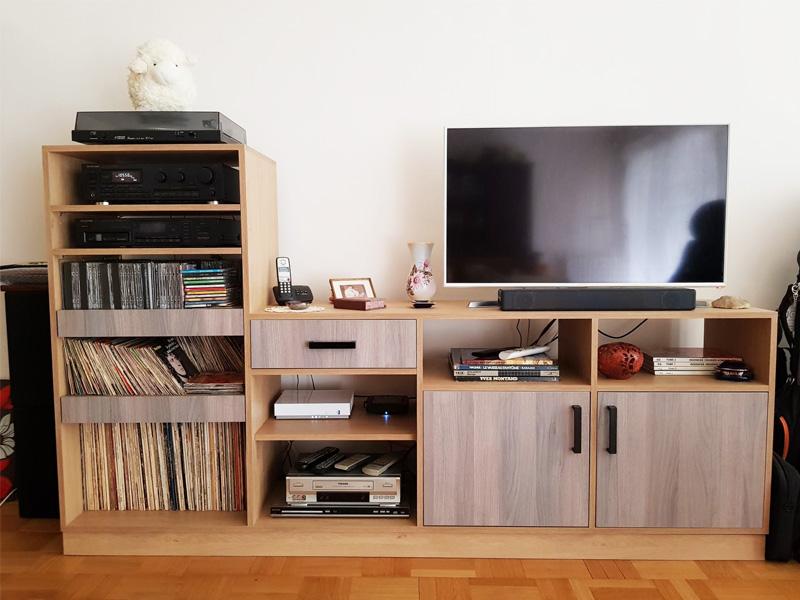 meuble TV sur mesure bois