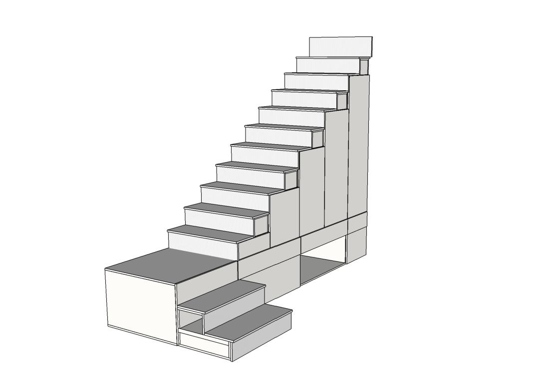 escalier sur mesure plateforme