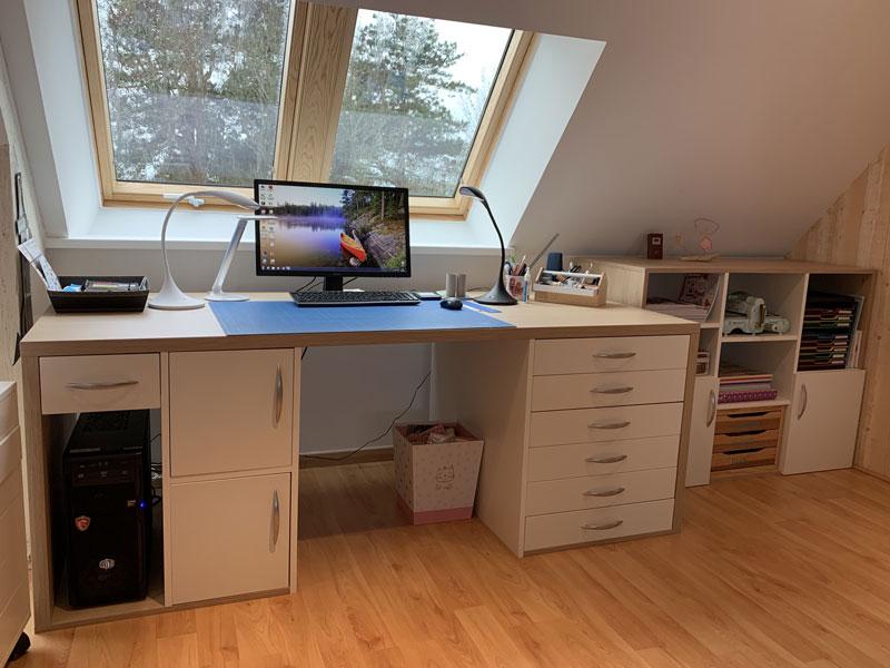 bureau en sous pente