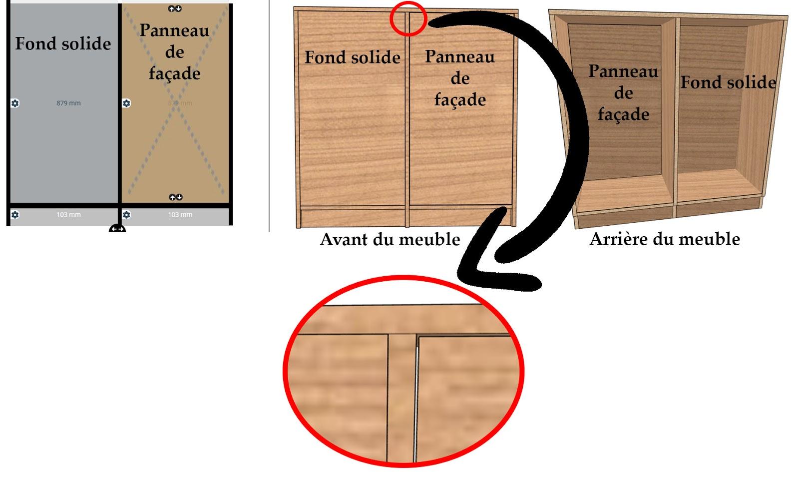 meuble sur mesure fond solide panneau de façade