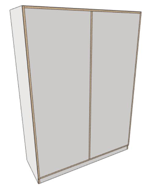 meuble sur mesure fond solide