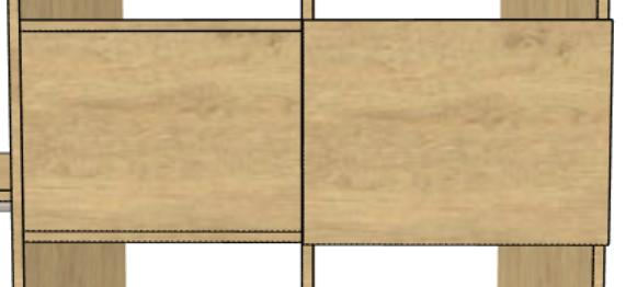 meuble sur mesure façade applique ou encloisonné