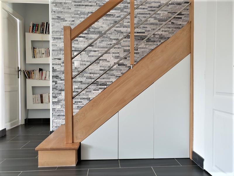 meuble sur mesure sous escalier