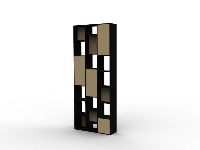 étagère claustra noire et bois