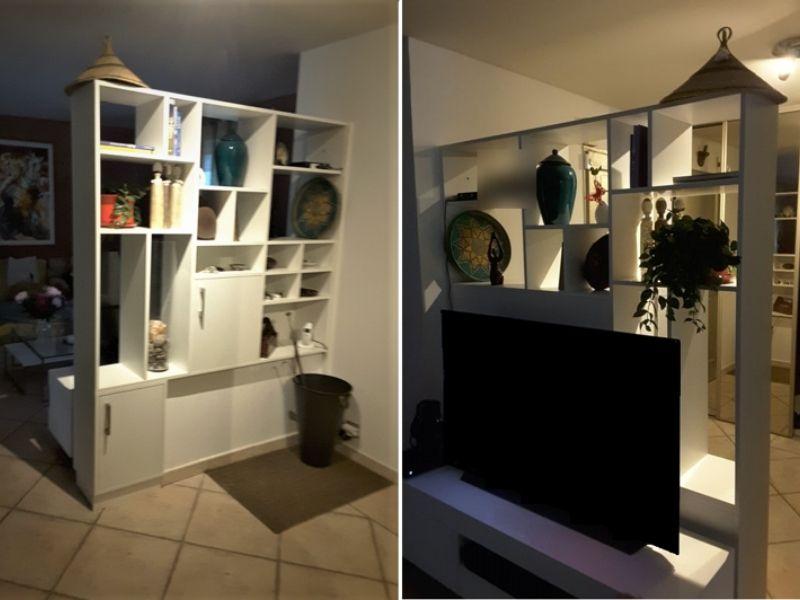 meuble tv claustra blanc