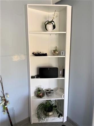 meuble d'angle symétrique blanc
