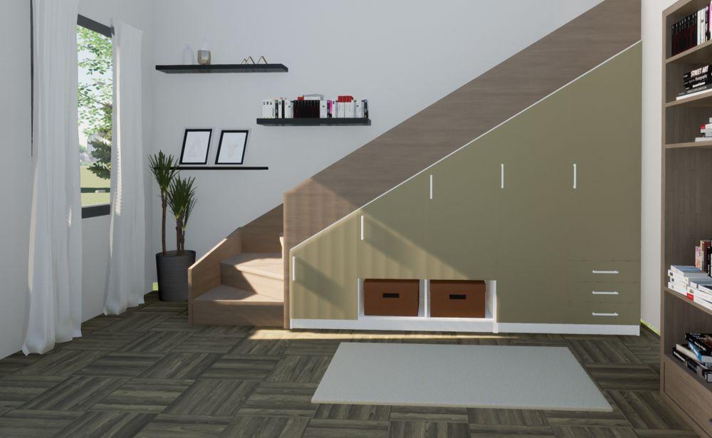 armoire sous escalier modulable