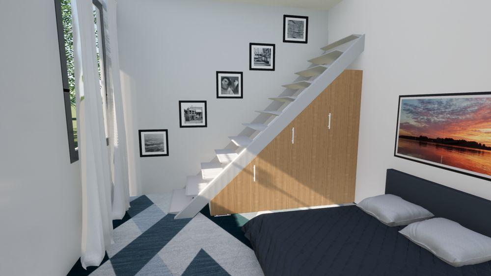 dressing sous escalier sur mesure