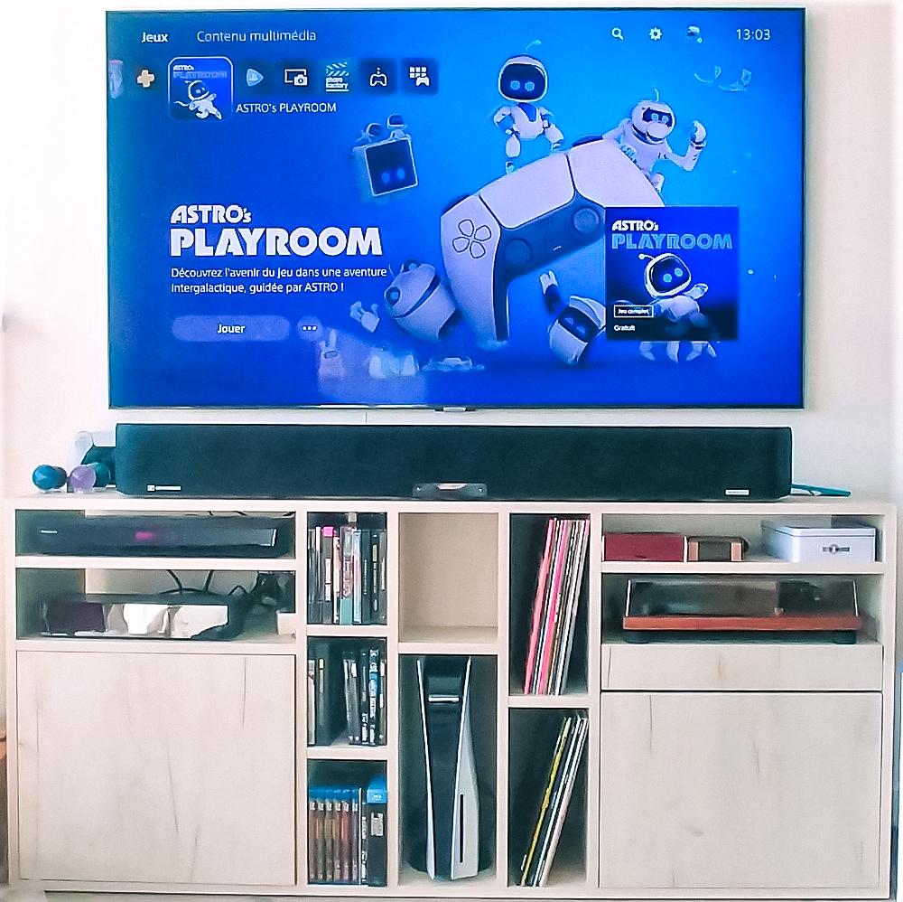 Meuble TV sur mesure blanc
