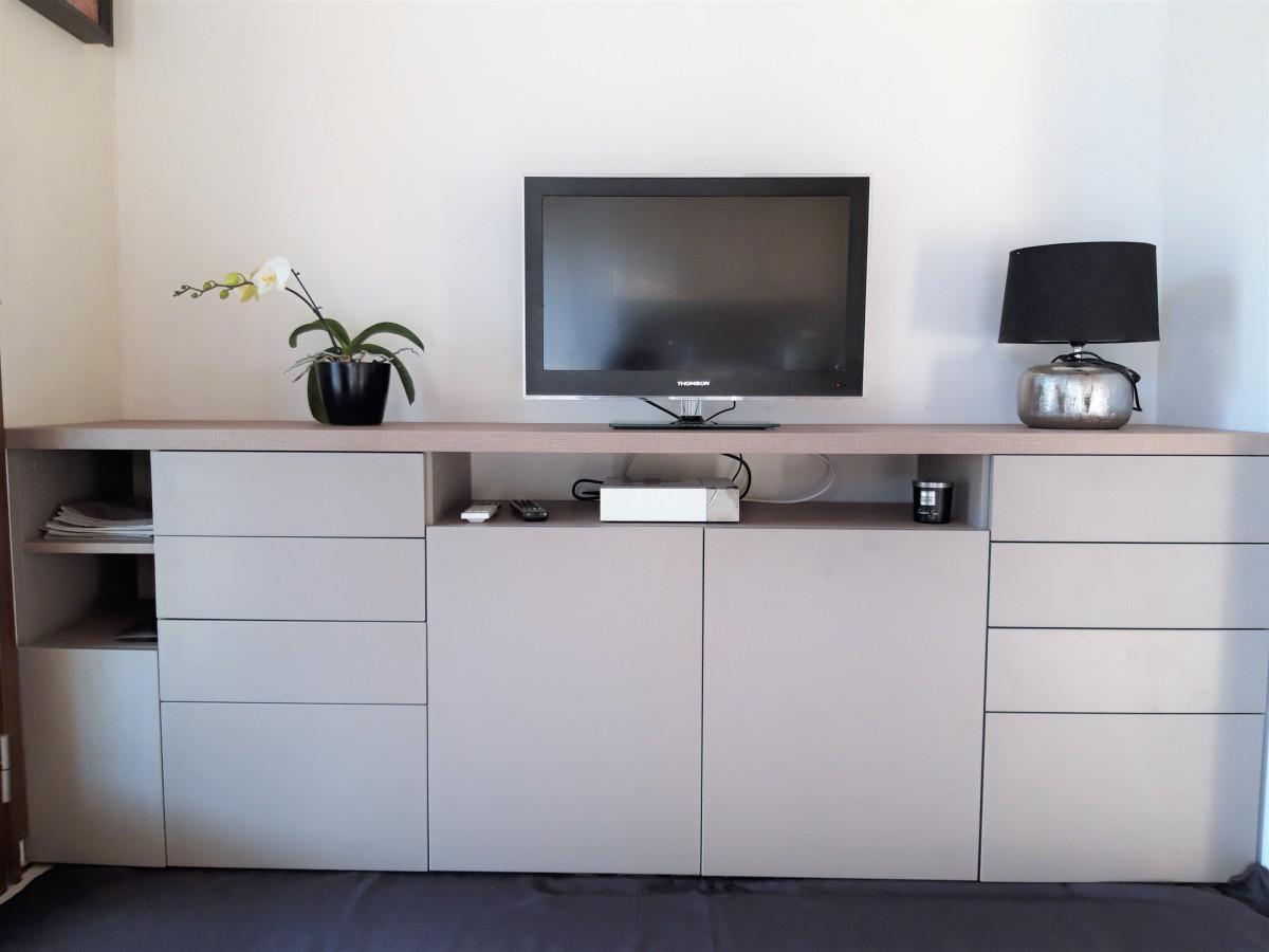 meuble tv commode bois