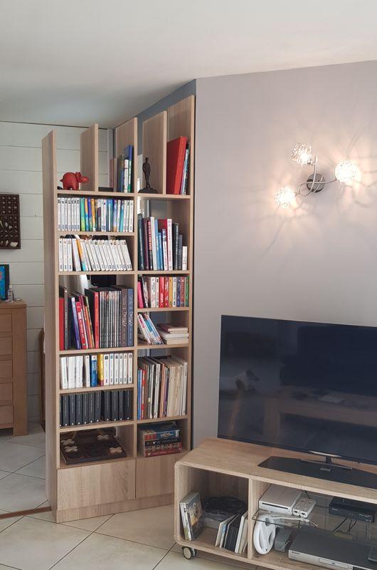 Bibliothèque claustra séparation chêne