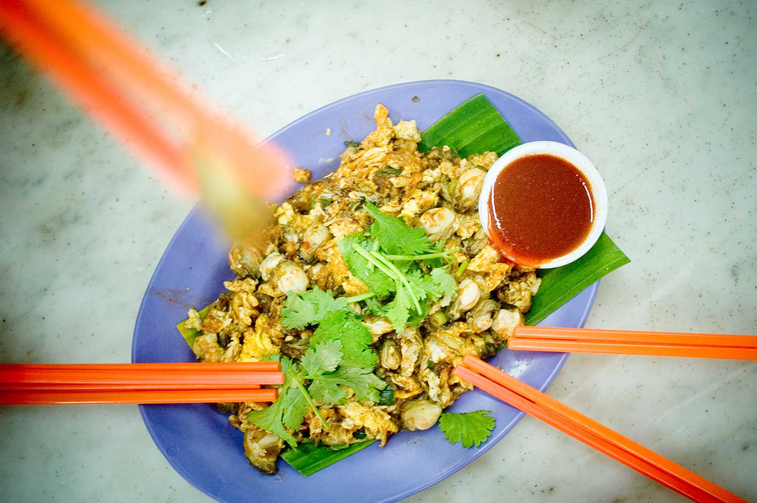 Penang's Oyster Omelette or commonly known as 'O Jian'