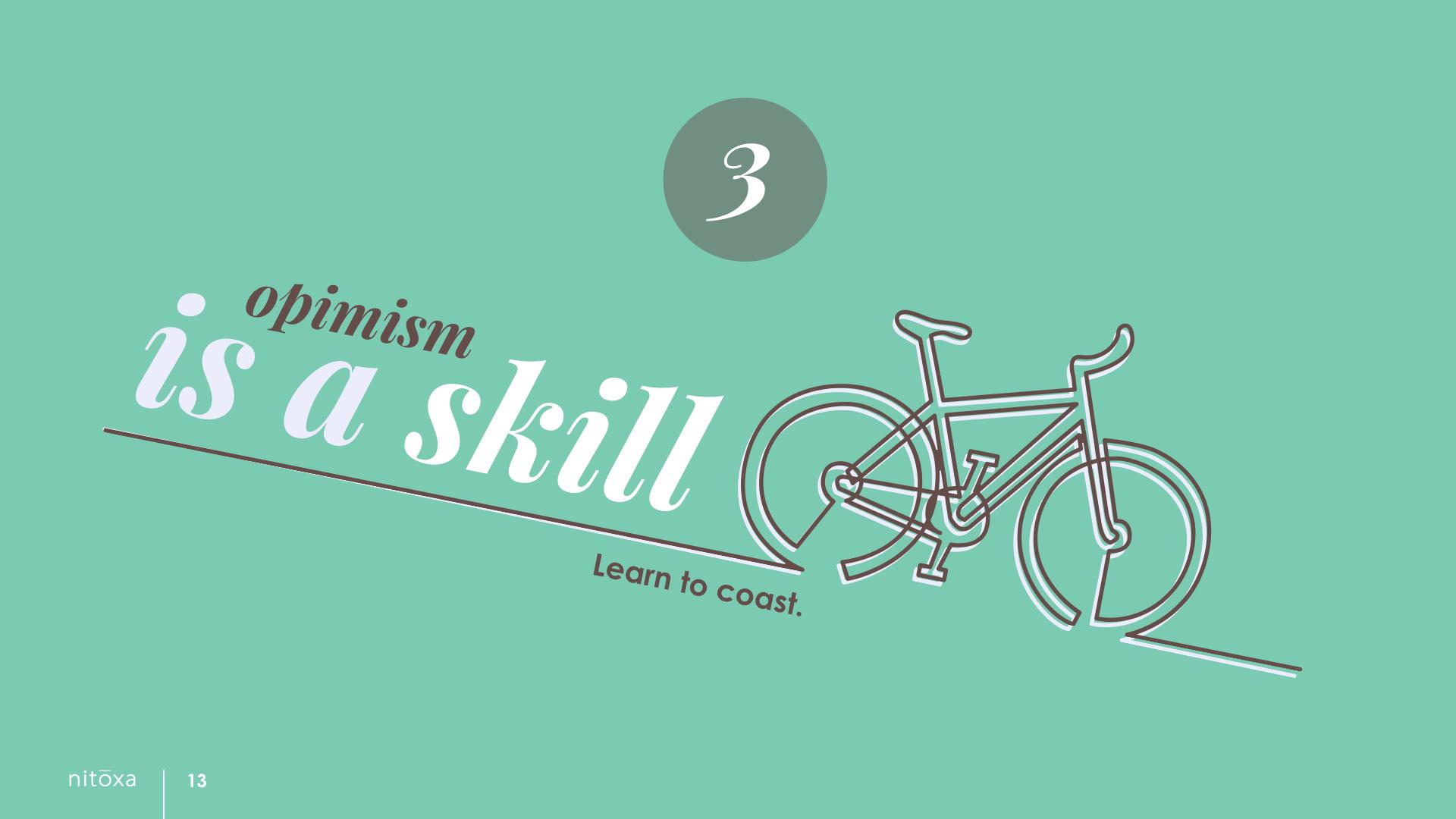 Slide Design Sample: bike coasting downhill