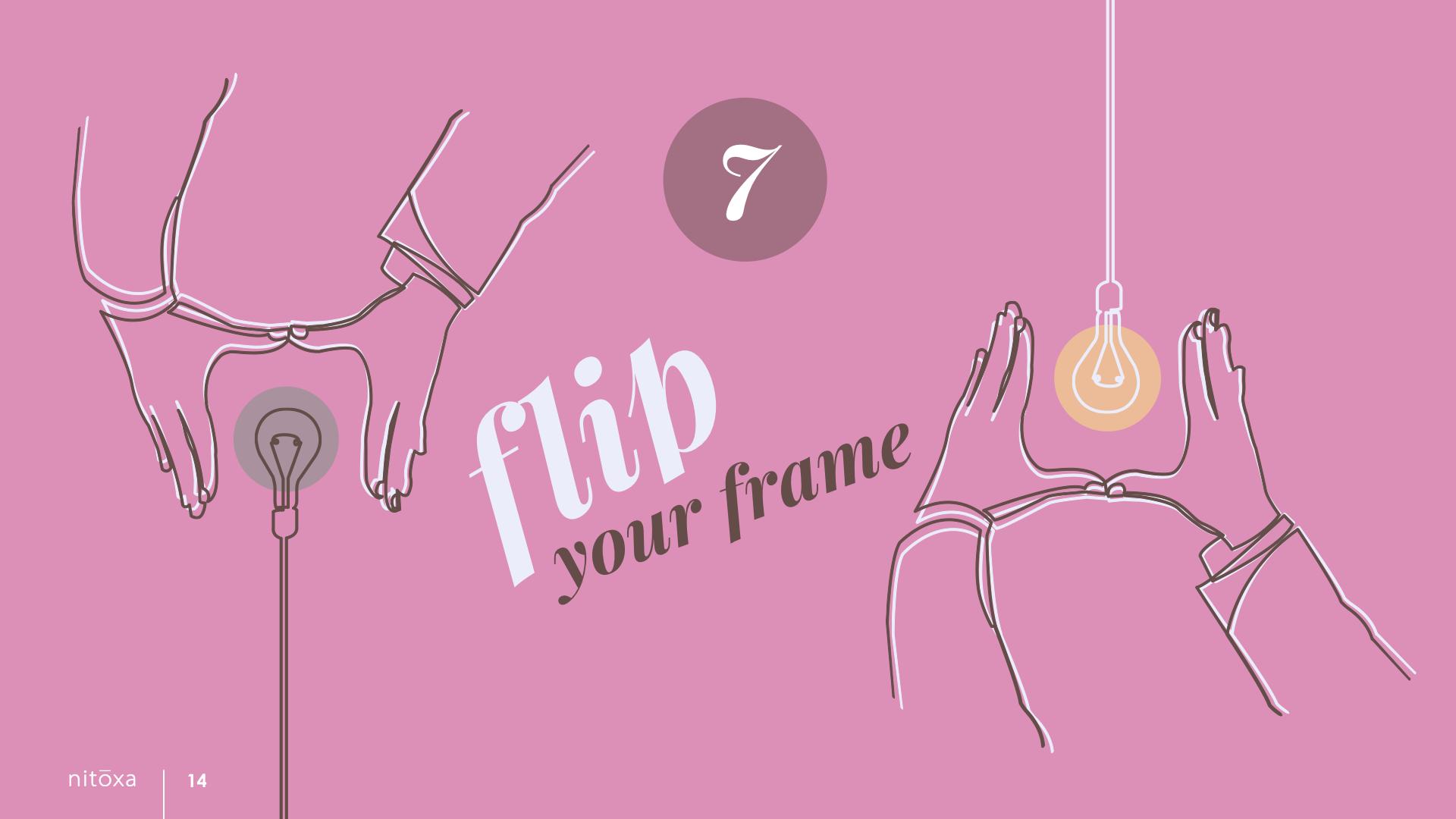 Slide Design Sample: hands surrounding lightbulbs