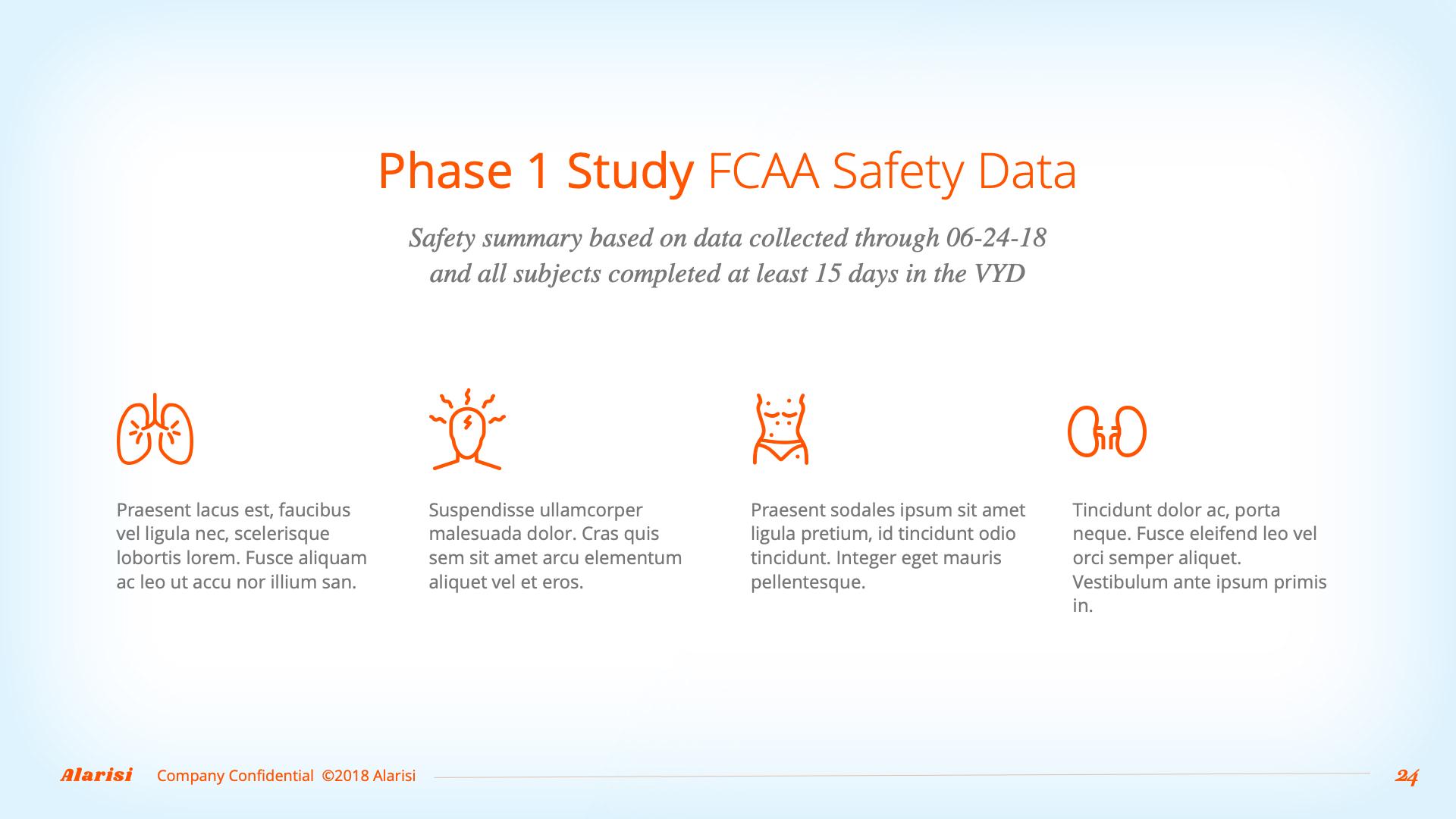Slide Design sample: four phases of disease