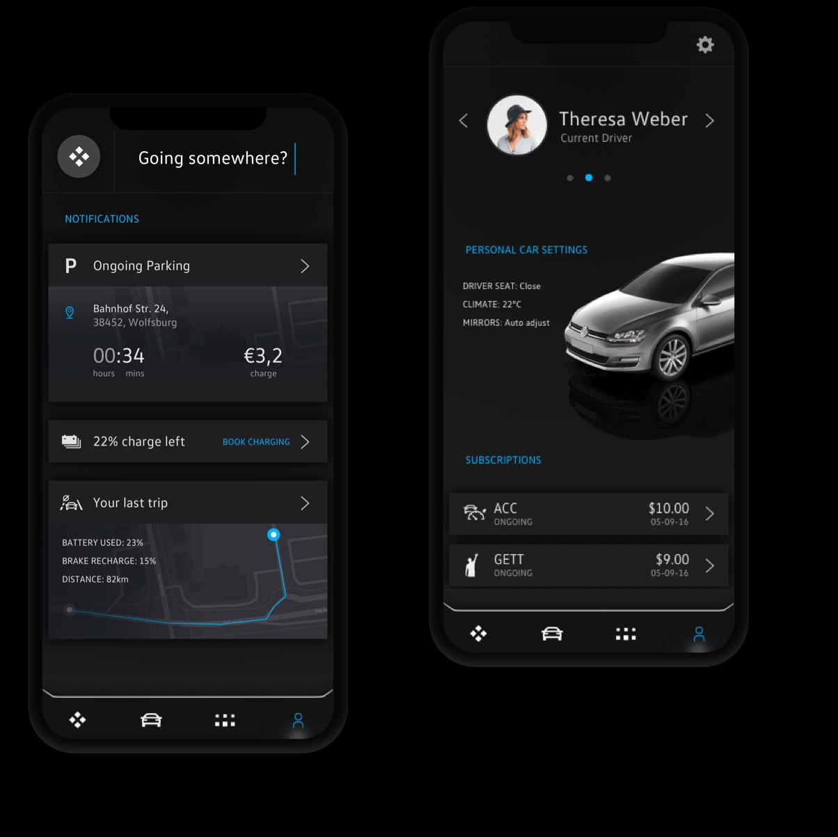 Automotive Telematics app UI/UX