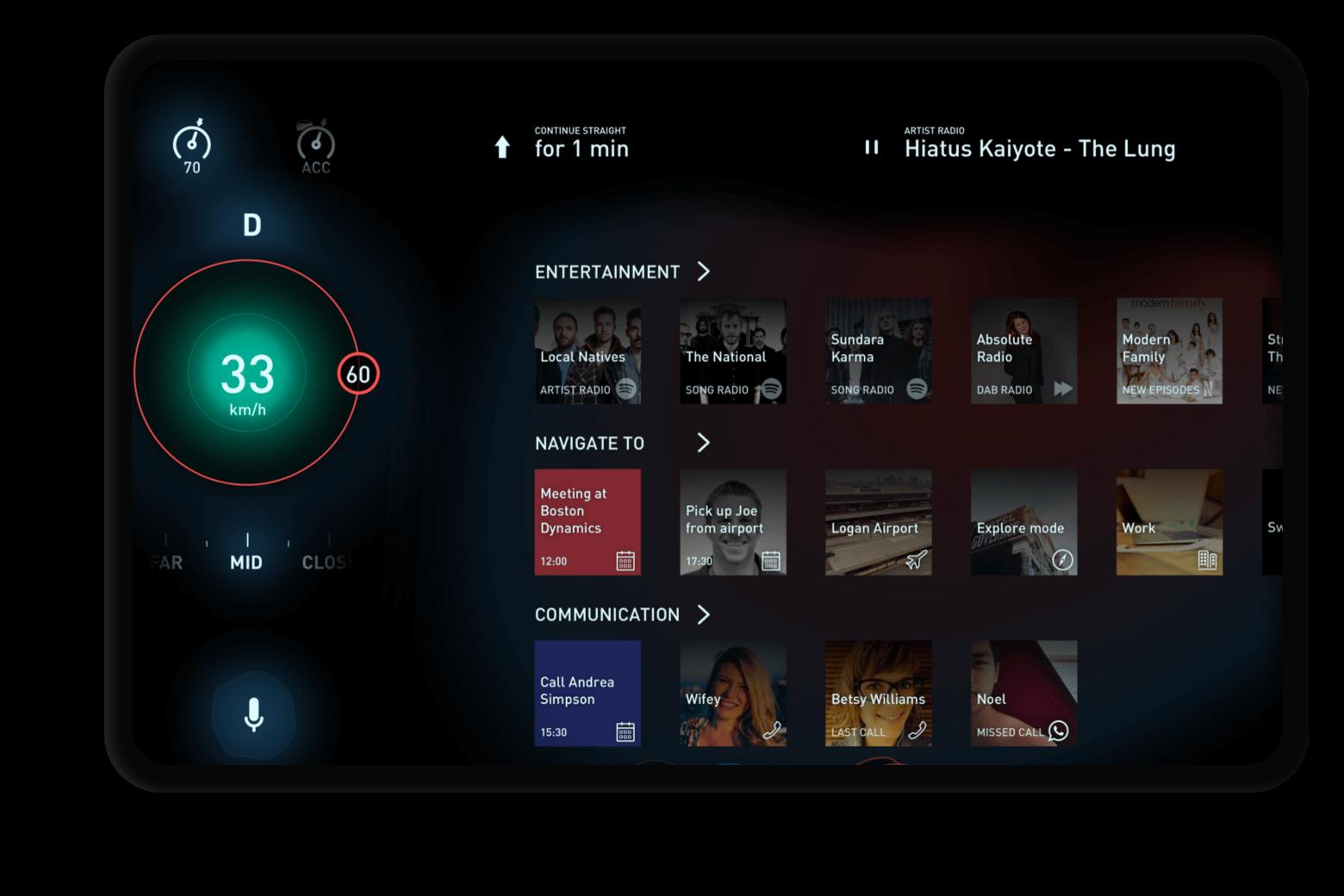 Tesla 3 Interface UI/UX concept