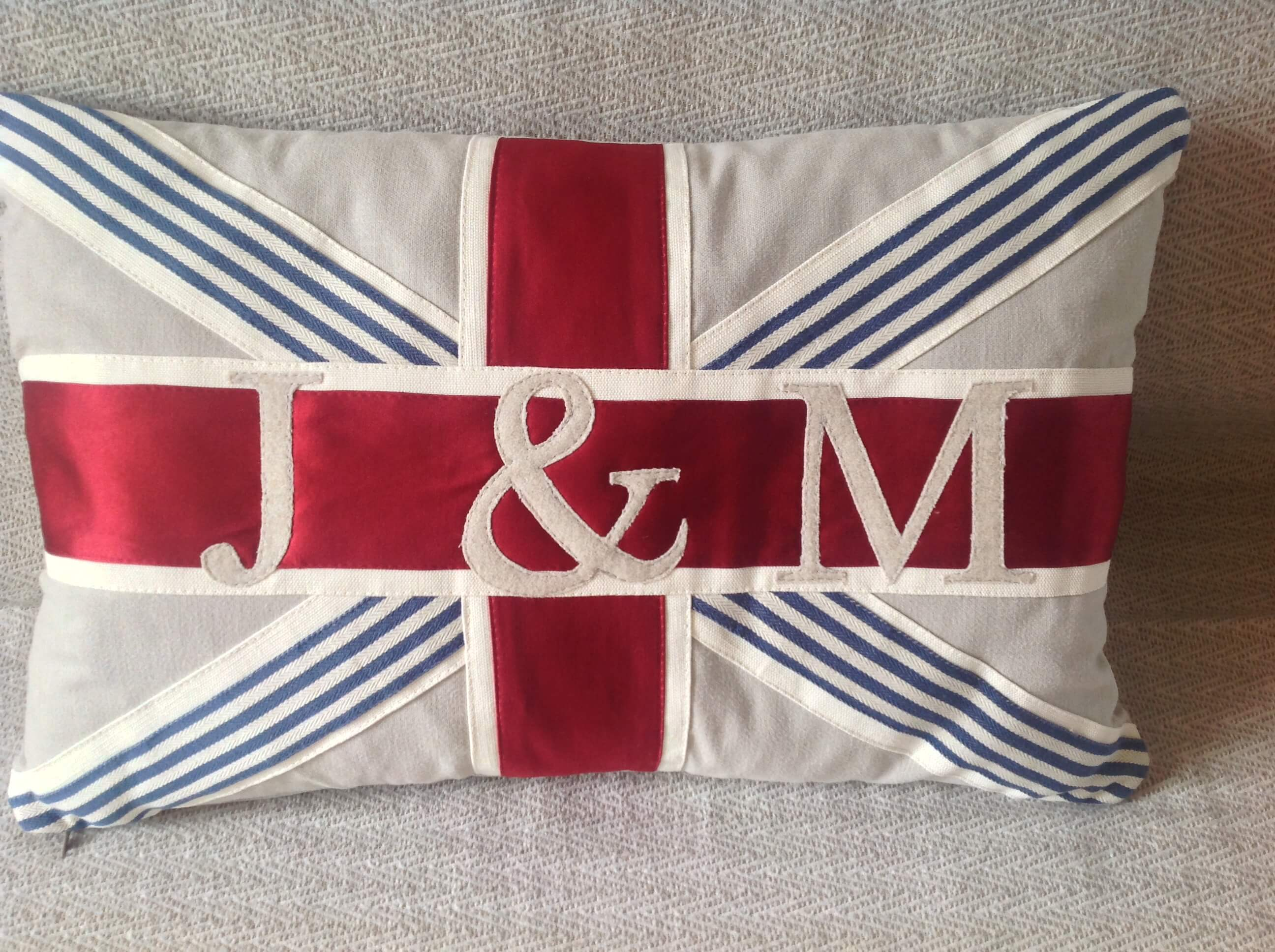 Winning Memories Union Jack Wedding Cushion